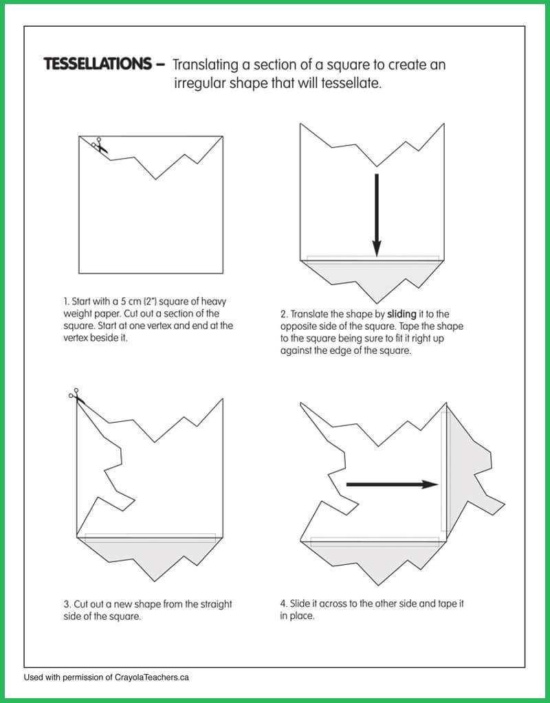 Art Worksheets Crayola Teachers – Tessellations Worksheet