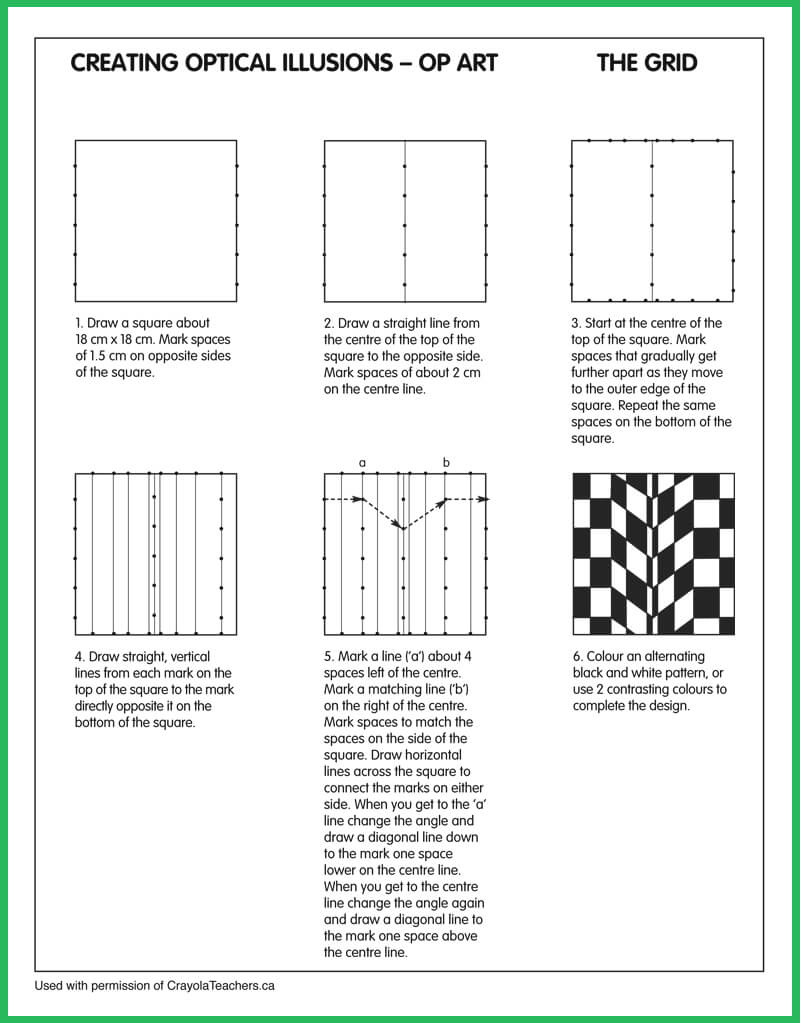 Worksheets Op Art Worksheet art worksheets crayola teachers optical illusions grid