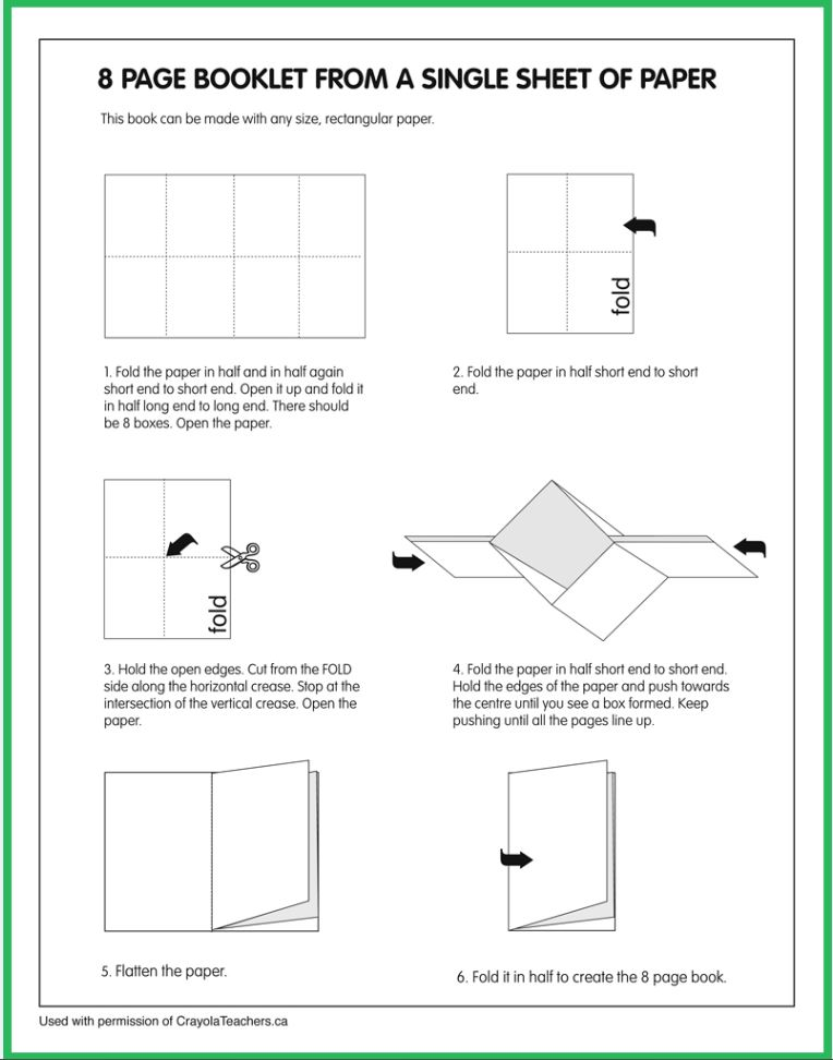 how to make an 8 Page Booklet