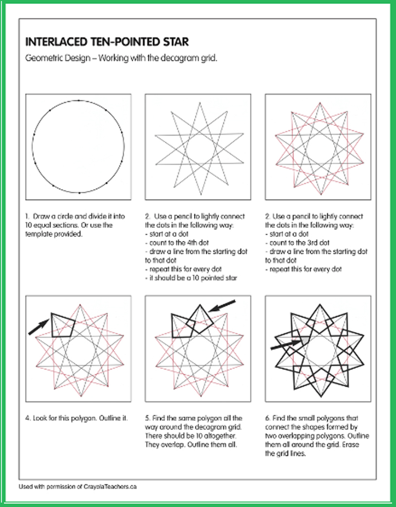 Title - Geometric Patterns – Interlocking Ten-Pointed Star
