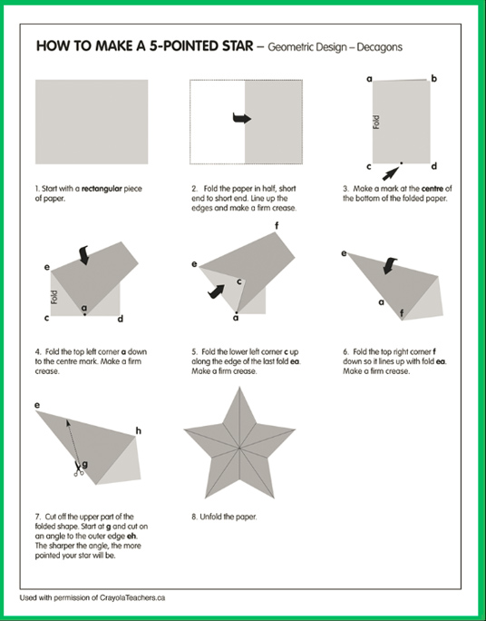 How to Make a 5-Sided Star