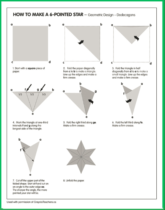 How to Make a 6-Sided Star