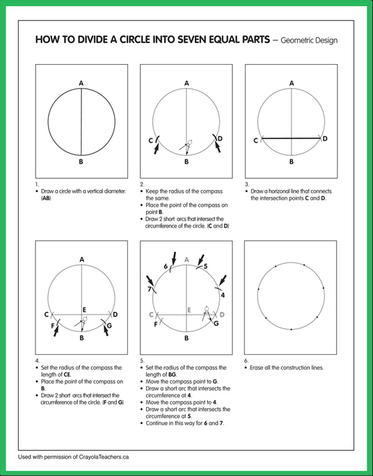 How to Divide a Circle into 7 Equal Parts