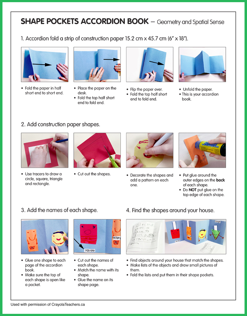 How to Make a Shape Pockets Book